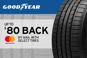 Goodyear up to $80 back by mail with select tires