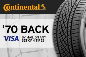 Continental: $70 back on a set of tires