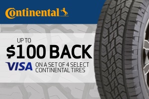 Continental: Up to $100 off on a set of select tires