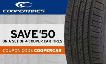 Save $50 on a set of 4 Cooper car tires
