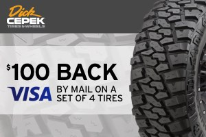 Dick Cepek: Up to $100 back on select tires