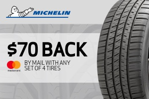 Michelin: $70 back on a set of 4 tires