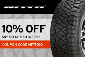 Nitto: 10% off any set of Nitto tires