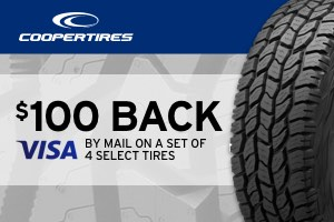 Cooper: $100 back on a set of select tires