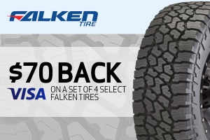 Falken: $70 back on any set of 4 select tires