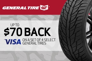 General: $70 back on a set of 4 selecttires