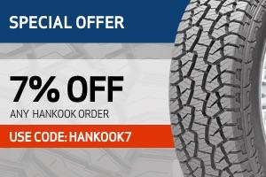 Hankook: 7% off any order