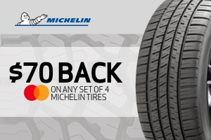Michelin: $70 back on a set of 4 select tires