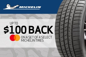 Michelin: Up to $100 back on a set of 4 select tires