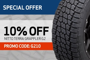Nitto: 10% off of Terra Grappler G2