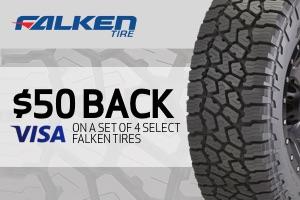 Falken: $50 back on a set of 4 select tires
