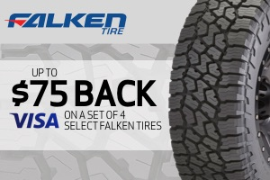 Falken: Up to $75 back on a set of 4 select tires