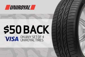 Uniroyal: $50 back on a set of 4 tires