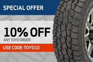 Toyo: 10% off any Toyo order