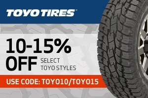 Toyo: 10-15% off select styles