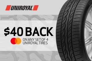 Uniroyal: $40 back on any set of 4 tires
