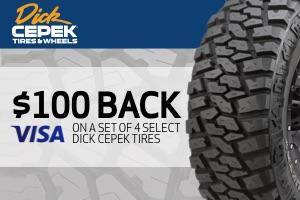Dick Cepek: $100 back