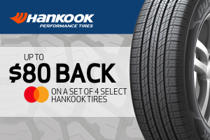 Hankook: up to $80 back