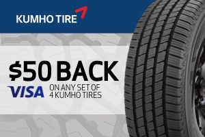 $50 off any set of Kumho tires