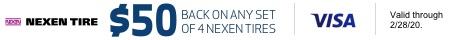 Nexen: $50 or $70 Mail In Rebate