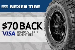 Nexen: $70 off any set of 4 tires