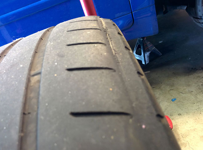"Irregular ""rub"" tire wear"