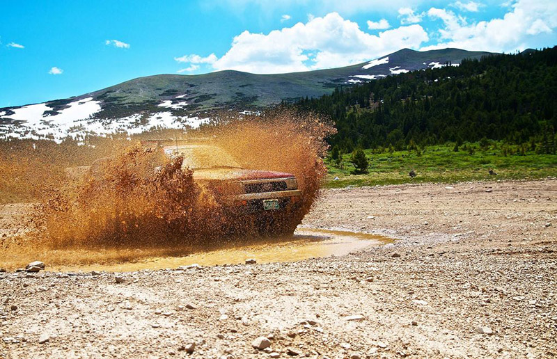 Truck mud splash