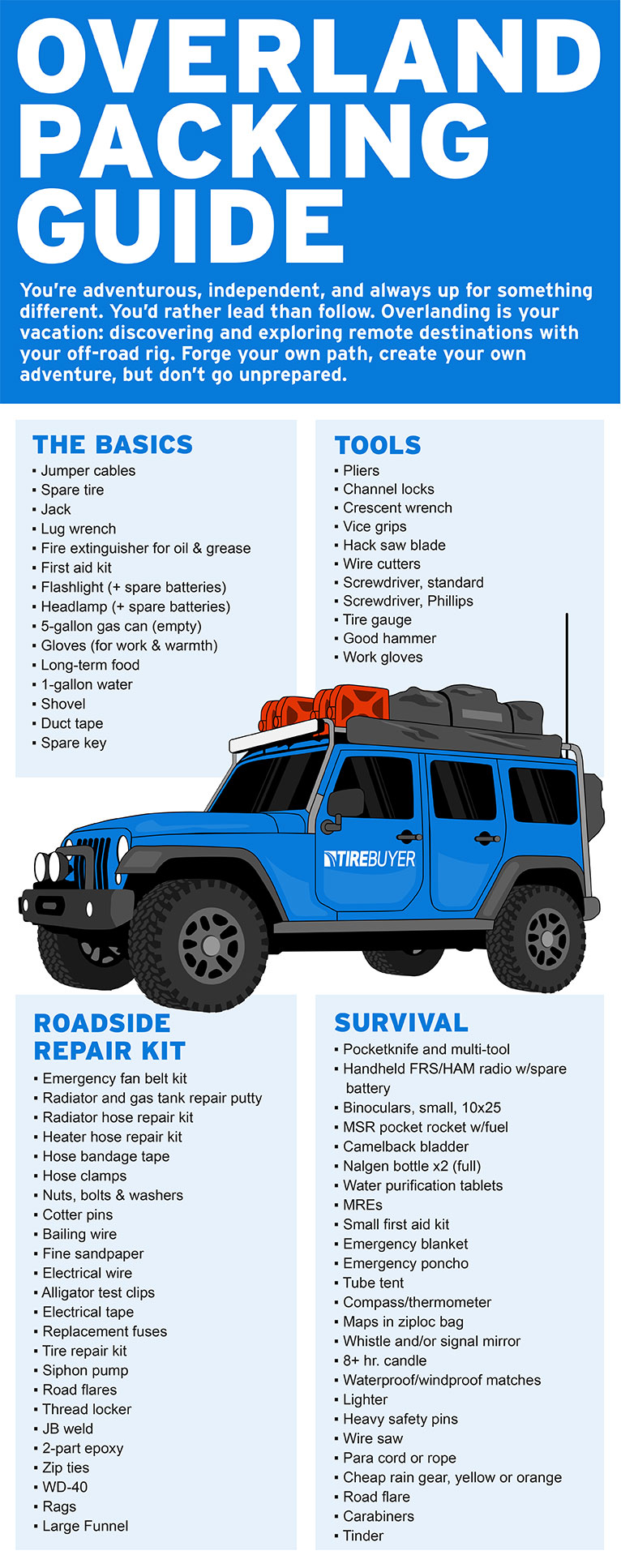Overlanding must-haves