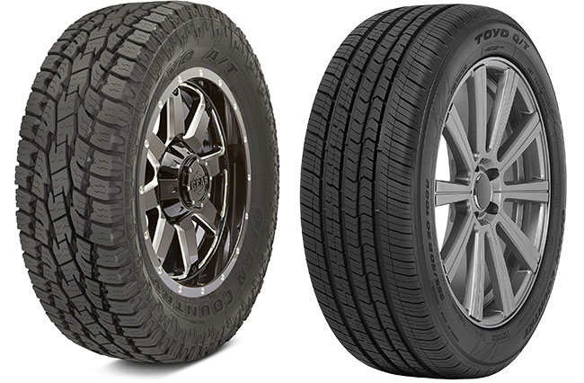 Toyo Open Country AT II Xtreme (LT Truck Tire) vs. Toyo Open Country Q/T (P truck tire)
