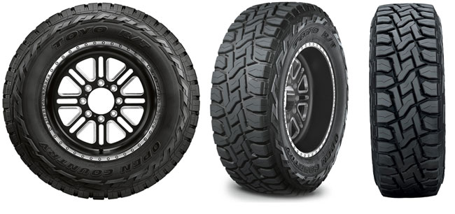 Toyo Open Country R/T tread design