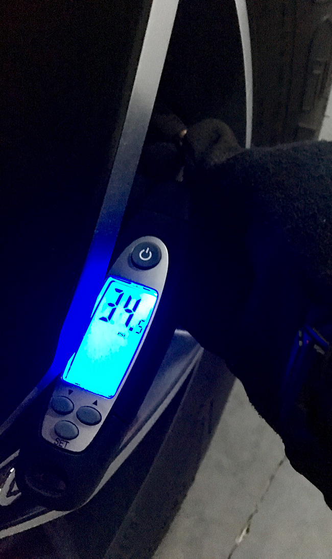 A tire gauge can keep your psi on track