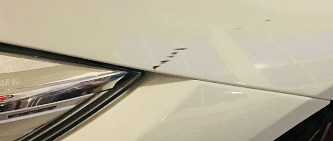Rubber marks show where your car is vulnerable