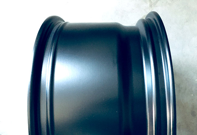 The width of the wheel, from left to right.