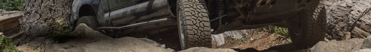 Aggressive-looking all-terrain tires